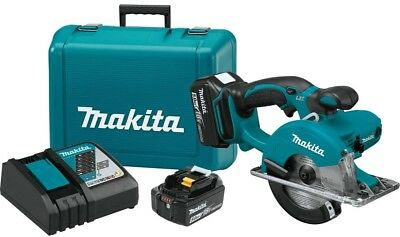 Makita Metal Cutting Saw Kit 5-3/8 in. 18-Volt Lithium-Ion Built-in LED Light