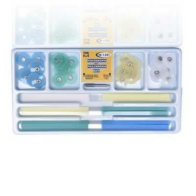 Dental Composite Finishing Polishing Discs assorted kit 48pcs+strips 75pc TOR VM