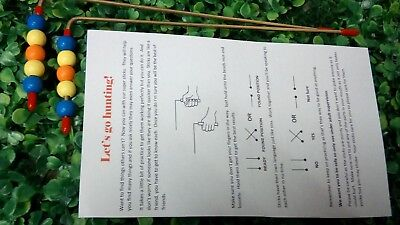 K02 Kid's Dowsing Rods Divining L-Rods - handcrafted Brass, Water Ghosts Gems