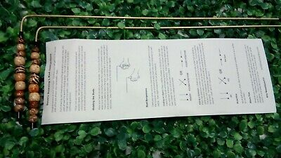 R07 Dowsing Rods Divining L-Rods - handcrafted Brass, Water, Ghosts, Gems