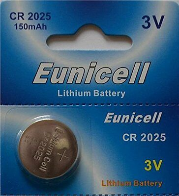 50 x EUNICELL CR2025 Batteries Button Cell Lithium Battery 3V DL2025 Watch