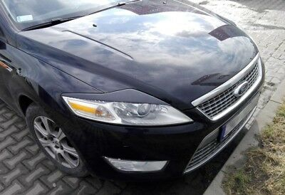 Eyebrows FORD MONDEO Mk4 Eyebrows original ABS headlight spoiler lid eyelids