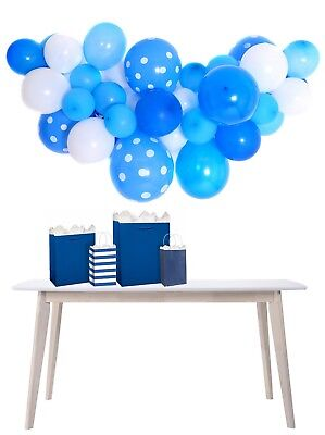Blue & White Football Party Balloon Cloud Garland Making Kit-No Helium Required