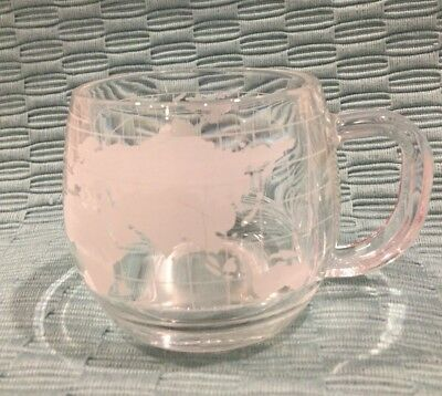 Vintage Nestle Nescafe World Etched Mug
