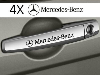 Mercedes-Benz- 4 x DOOR HANDLE - CAR DECALS STICKERS ADHESIVES - 120mm long