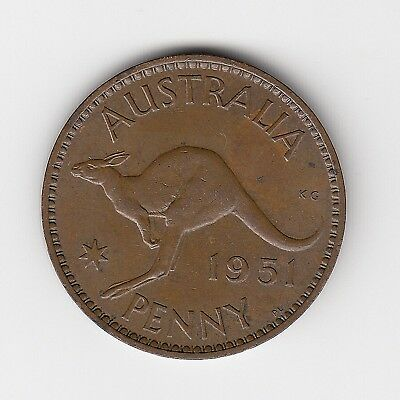 1951L Kgvi Australia Penny - Great Vintage Collectable Coin