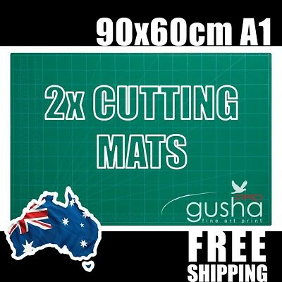 "2 pc A1 Cutting Mat 90x60cm 36x24"" PVC Self Healing Craft Quilting Grid Lines"