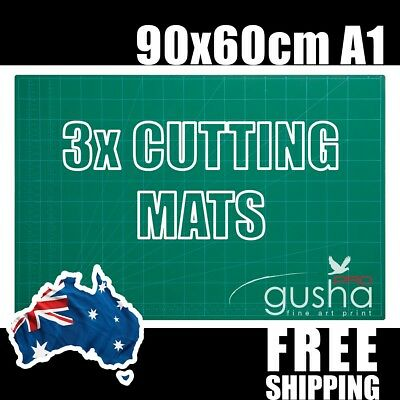 "3 pc A1 Cutting Mat 90x60cm 36x24"" PVC Self Healing Craft Quilting Grid Lines"