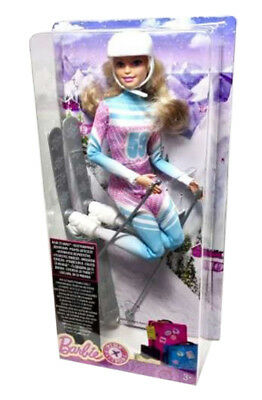 Barbie Made To Move Pink Passport Snow Skiing Skier Doll