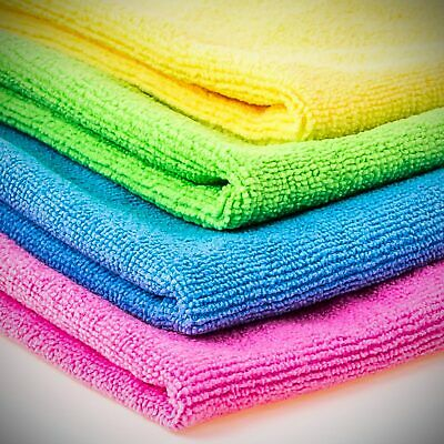 Microfibre cloths - Pack of 20 just £14.99 - 40x40cm - Clean, polish, wipe, wash