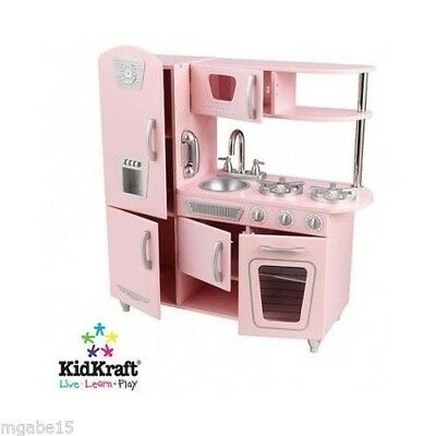 Dollhouse Kitchen Play Set Toy For Kids Girl Cook Hostess Battery