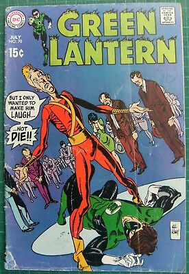 Green Lantern no.70 DC Silver Age Comic July 1969