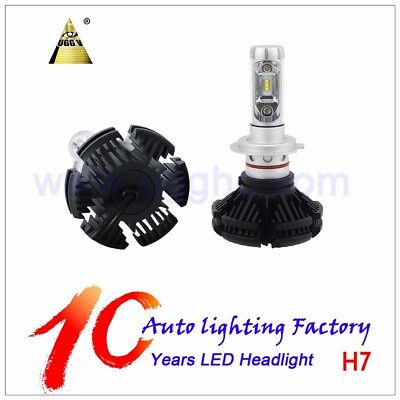 Pair of X3 H7 50W 12000LM LED Headlight Light Bulbs Car Conversion Kit