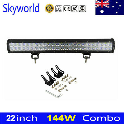 "20inch 294W CREE LED Light Bar+23"" Black Number Plate Frame Mount Bracket Cable"