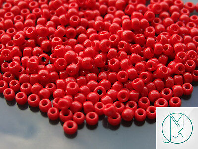 L88//3 Toho Round Size 6//0 Seed Beads Opaque Pepper Red 11.5g TR-06-45