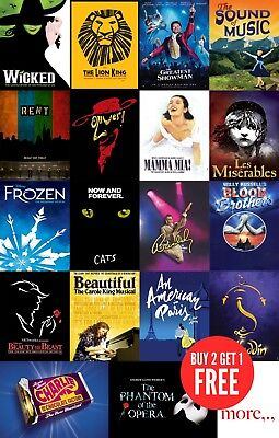 Top Musicals Theatre Posters Print in A0-A1-A2-A3-A4-A5-A6-MAXI sizes C250
