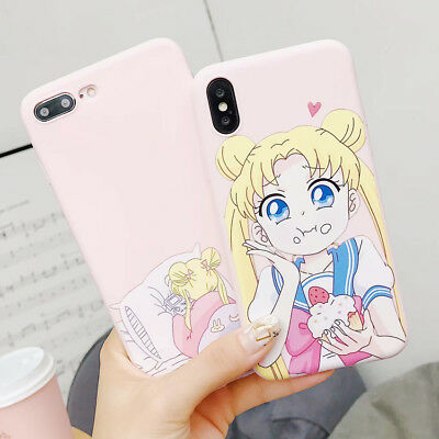 Cute Sailor Moon Silicone Cartoon Phone Case TPU Cover For iPhone X 8 7 6s Plus