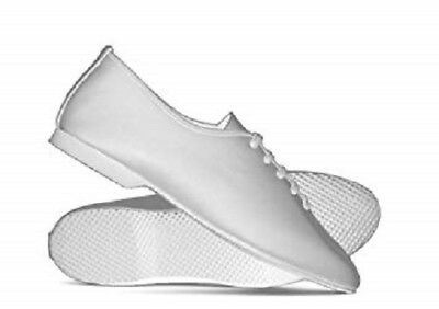 White Leather Rubber Sole Dance Stage Jazz Modern Shoes By Katz All Sizes