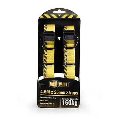 Van Vault 4.5m X 25mm Endless Lashing Straps (Pair) (160kg capacity)