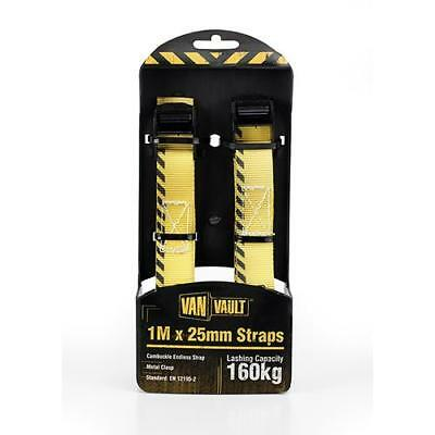 Van Vault 1m X 25mm Endless Lashing Straps (Pair) (160kg capacity)