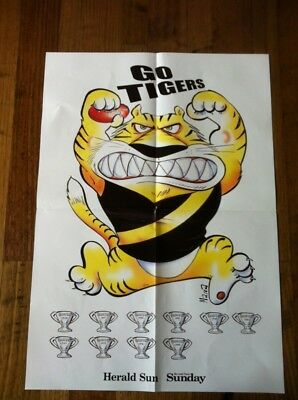 2017 Herald Sun AFL Glossy Poster Richmond Tigers