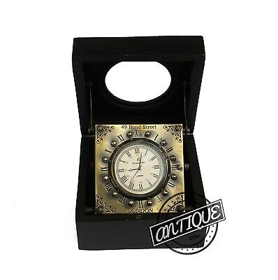 Antique Marine Decorative Vintage Table Clock Box - Classic Nautical Watch Gifts