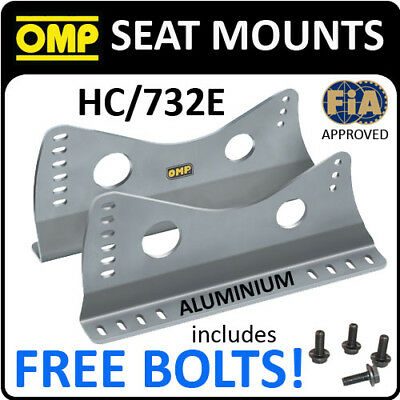Sale! Hc/732E Omp Racing Seat Mount Side Brackets Silver With Free Bolts!!