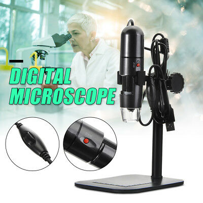 8 Led 10Mp Usb Microscopio Digitale 1000X Pc Foto Video Staffa Endoscopio