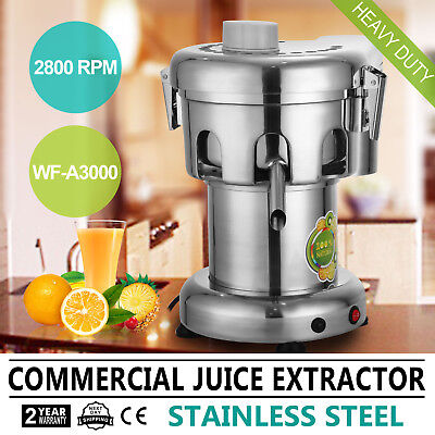 Commercial Juice Extractor  Machine Stainless Steel Juicer  Press Heavy  2800prm