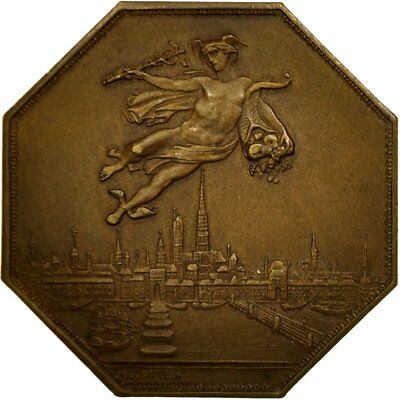 [#555150] France, Jeton, Chambre de Commerce de Normandie, Lecomte, SUP, Bronze