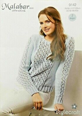 Stylecraft Malabar Cotton Aran Ladies Cardigan Knitting Pattern 9146
