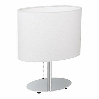 HAITRAL Bedside Table Lamps - Minimalist Desk Lamp with Metal Base Fabric Shade