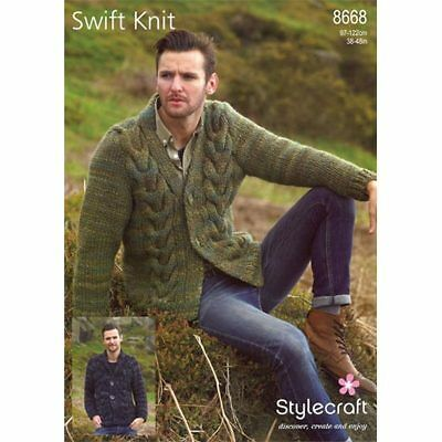 Jacket And Sweater in New Swift Knit Super Chunky 9721 Knitting Pattern