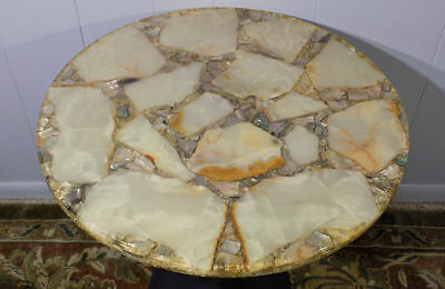 vintage Arturo Pani table top (only) Onyx & Abalone gold flake Hollywood Regency