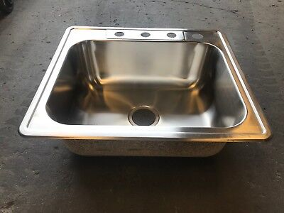 New Rv Camper Motorhome Stainless Steel Square Sink 25 X 22 Bowl Basin  Kitchen