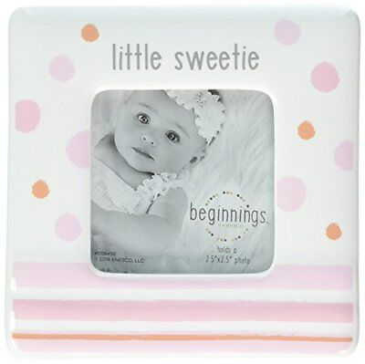 Beginnings by Enesco Little Sweetie Baby Girl Photo Frame, 4 inches, Pink and