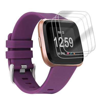 3X 9H Tempered Glass Screen Protector Film for Fitbit Versa / Lite Smart watch