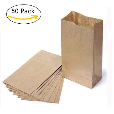 10/30/50 Pcs Kraft Paper Gift Candy Bag Vintage Wedding Treat Brown Paper Bag