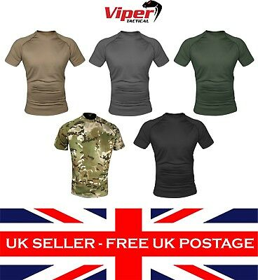Viper Tactical Mesh Tech Breathable T-Shirt S-3XL Airsoft Army Military Gym