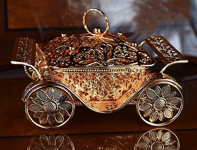 Rose Gold Dry Fruit Tray Candy Nuts Snack Dish & Lid Turkish Arabic  Living Room