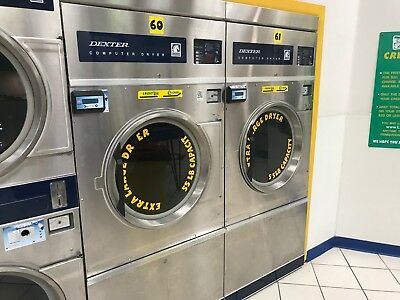 Commercial Dryer 50 55lb Dexter, Gas, Single Pocket, Stainless Steel, Coin op