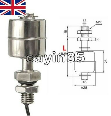 MINI Indicator Vertical Water Level Sensor Stainless Steel 45mm Float Switch UK