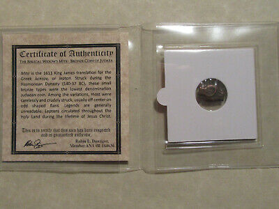 """""""The Widows Mite"""" 2000 year old coin Bible story gift for religion Christian  WW"""