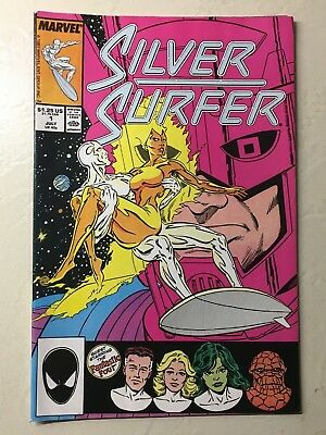 Silver Surfer #1 (Vol. 3, 1987)  Rogers, Galactus, Fantastic Four  VF/NM