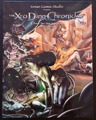 The Xro Dinn Chronicles Roleplaying Game 2004 Book 2 NEW HORIZONS IGS1100 HC new