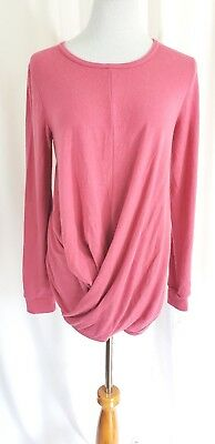 Isabel By Ingrid & Isabel Drapey Front Rose Color Maternity Sweater Size S NWT