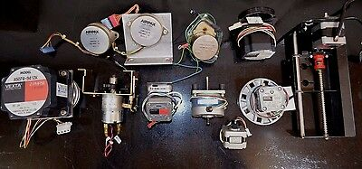 Lot of Stepper Motors Vexta,Copal, Airpax Assorted Brands & Models