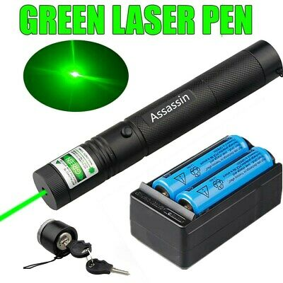 Assassin 50Mile Green Laser Pointer 18650 Battery Charger Visible 301 Lazer Pen