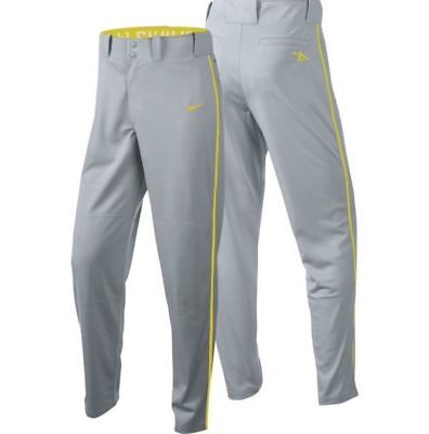 Nwt Nike para Niño Bosque Gray & Amarillo 1.sports Dri-Fit con Conducto Beisbol