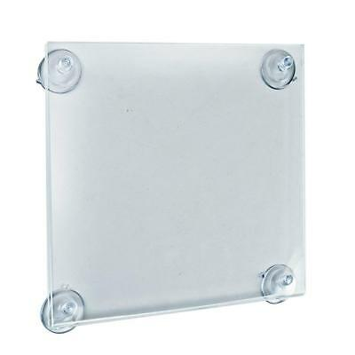 "2 Azar Displays 106614 8.5"" W by 11"" H Acrylic Sign Holder with Suction Cups"